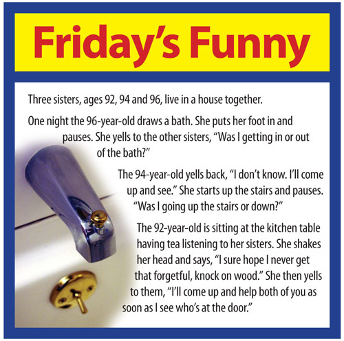 ... NJ! We bring you more senior humor to give you a chuckle and a smile