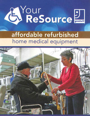 Goodwill Home Medical Equipment offers reconditioned home medical