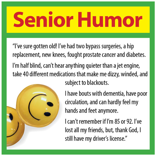 Senior Humor Senior Care Burlington & Mercer County, NJ