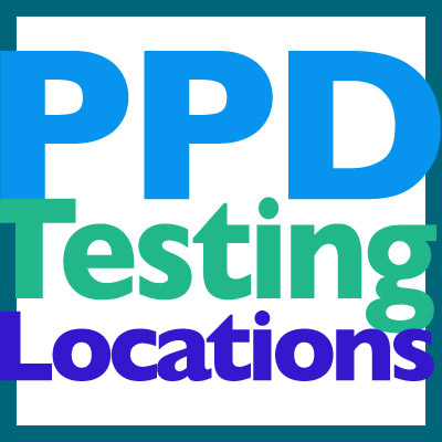 PPD testing locations in Mercer-Burlington-Camden Counties in NJ