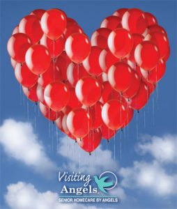Visiting Angels heart balloon