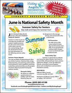 June Safety Month Summer Safety For Seniors Visiting